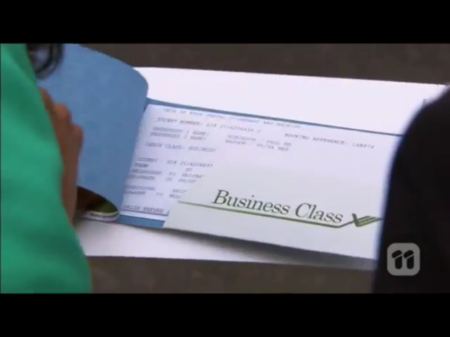 And they're business class, because, as we know, Paul is a business man, and he likes to get down to business.